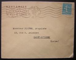 1938 Nestamine (procédé Nestlé) L.J. Mounier Pharmacien 18 Place De Laborde Paris - Postmark Collection (Covers)
