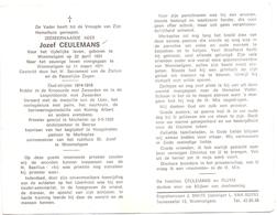 Devotie - Doodsprentje Overlijden - Pastoor Jozef Ceulemans - Wommelgem 1891 - Beerse Hoogstraten  Merksplas - 1971 - Todesanzeige