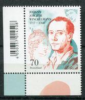 """Germany 2018 Mi.Nr.3328 """"300.Geburtstag Von Joachim Winkelmann,Archäologe,Kunsthistoriker""""1 Wert Neufs,** MNH Postf,mint - Archaeology"""
