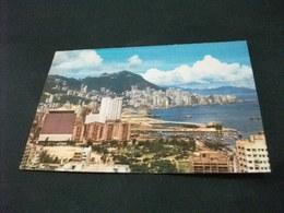 HONG KONG VEDUTA THE CAUSEWAY BAY WITH MT. VICTORIA IN THE BACKGROUND  PIEGA ANG. - Cina (Hong Kong)