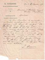 1907 E. TOURNIER 22 FAUBOURG-DU-TEMPLE PARIS REPRESENTATIONS DE PRODUITS ALIMENTAIRES A BOCHOLIER VERGNOL DALLET - 1900 – 1949