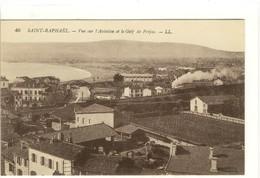 Carte Postale Ancienne Saint Raphaël - Vue Sur L'Aviation Et Le Golf De Fréjus - Saint-Raphaël