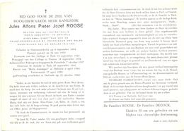Devotie - Doodsprentje Overlijden - Priester Rector Jules Roose - Oostnieuwkerke 1894 - Tielt Veurne Dadizele 1960 - Overlijden