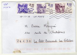 Enveloppe FRANCE Oblitération LA POSTE 25759A-02 16/11/2018 - Postmark Collection (Covers)