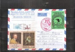 Lettre De Russie Vers La Belgique - ( Avec Vignette) - (à Voir) - Lettres & Documents