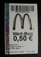 Mc Donalds AUSTRIA Wien Coupon  Wert Bon - Serviettes Publicitaires