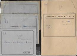 LOTTO 4 LIBRETTI PER FRANCOBOLLI  - TRE FORMATO PICCOLO 14,50X11 - USATI - Stamp Boxes