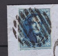 N° 11 Margé / Lettre (lac) Adresseé Au BARON DE SELYS LONGCHAMPS SENATEUR  BXL Vers Liege 19 7 1861 - 1858-1862 Medallions (9/12)