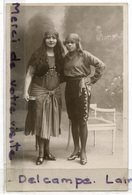 - Carte Photo - 2 Belles Femmes En Costume De Mi Carême, épaisse, 1923, Non écrite, TBE, Scans. - Fashion