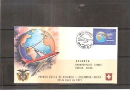 1er Vol De AVIANCA - Colombie-Suisse 1971 (à Voir) - Colombie