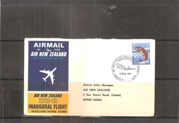 Inaugural Flight Air New Zealand DC-8 - Auckland/Hong Kong - 1966 (to See) - Poste Aérienne