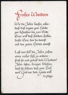 B5797 - Spruchkarte - Frohes Wandern - Th. Flügge - Schäfer Verlag Plauen - DDR - Postcards