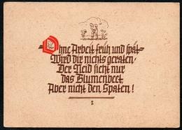 B5799 - Hans Bonheim Spruchkarte - Künstlerkarte - Verlag Hans Bonheim Dresden - DDR ??? - Postcards