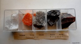 5 Pierres  Differentes ANHYDRITE En Boitier Plastique - Minéraux