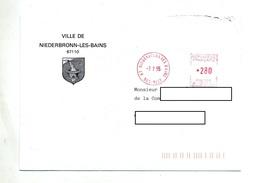 Lettre Machine Niederbronn Entete Mairie - Storia Postale