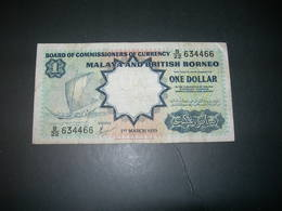 Malaya E British Borneo 1 Dollar 1959 - Malaysie