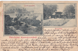 626/ Udvozlet Komarombol, Sport-kert, Tiszti Kaszino, 1899 - Hongarije