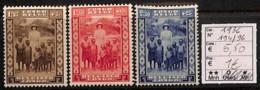 [814486]Congo Belge        1936 - N° 194/96, Reine Astrid, Familles Royales, SC - Congo Belge