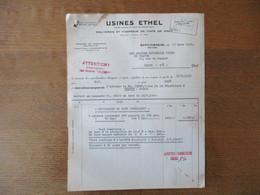 SCHILTIGHEIM USINES ETHEL MALTERIE ET  FABRIQUE DE CAFE DE MALT FACTURE ET BON DE TRANSPORT DU 17 MARS 1949 - France