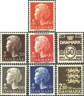 Denmark 569y-571y,572,584-585,586 (complete Issue) Fine Used / Cancelled 1974 Clear Brands - Danimarca