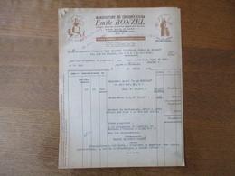HAUBOURDIN EMILE BONZEL MANUFACTURE DE CHICOREE EXTRA FACTURE ET BON DE TRANSPORT DU 23 AVRIL 1949 - Frankrijk