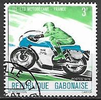 GABON     -      MOTO  /    Motobécane      -        Oblitéré  . - Moto