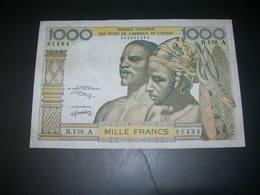 Afrique Dell'Ouest  1000 Francs - Billets