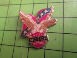 718a Pin's Pins : Rare Et Belle Qualité : THEME MOTOS : PIN'S DE BIKER AIGLE DRAPEAU SUDISTE MEAN MOTOR MACHINE - Motorbikes
