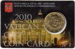 Vaticano 2010 Coin Card Cent. 50 - Vaticano