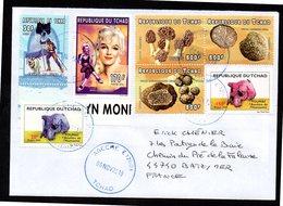 TCHAD Enveloppe Cover Oblitération Abéché 08 11 2018 Marilyn Monroe - Ciad (1960-...)