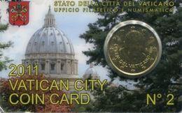 Vaticano Coin Card 2011 N.2 Cent. 50 - Vaticano