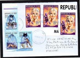 TCHAD Enveloppe Cover Oblitération Abéché 08 11 2018 Marilyn Monroe - Tchad (1960-...)