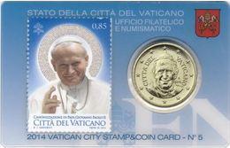 Vaticano 2014 Coin & Stamp Card  - Papa Pope Francesco - Vaticano