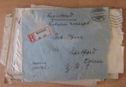 Europe / Monde - Lot De 15 Enveloppes Avec Marques Postales Diverses Dont Censure, Recommandé, Ministères, Etc... - Collections (sans Albums)