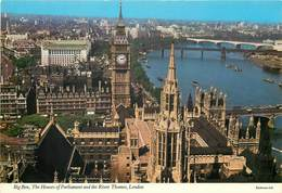 D1402 Big Ben Houses Of Parliament River Thames London - London