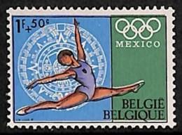 D - [205152]BELGIQUE 1968 - N° 1458-cur, JO Mexico, Décalage Des Couleurs, Gymnastique - Abarten Und Kuriositäten