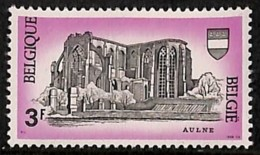 D - [205248]BELGIQUE 1968 - N° 1483-cur, Abbaye D'Aulne, Légende Décalée Vers Le Haut (E Touche Le Cadre) - Abarten Und Kuriositäten