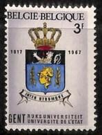 D - [205250]BELGIQUE 1968 - N° 1434-cur, Gent, Légende En Marge Gauche, Gros Décalage - Abarten Und Kuriositäten