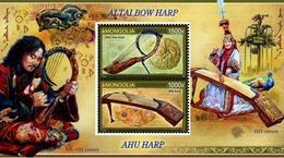 Mongolia 2016 SS MNH  Altai Bow Harp Music - Music