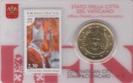 Vatican Stamp & Coin Card N 8 – 2015 - Vaticano