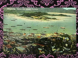 HONG KONG - HARBOUR WITH KOWLOON PENINSULA,  PPC - China (Hongkong)