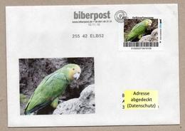 Biberpost -  Papageien Parrot Perroquet - Gelbkopfamazone (Amazona Ochrocephala Belizensis) Auf Brief - Papageien