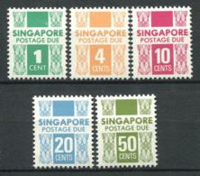 Singapur 1978 Mi. 14-18 Postfrisch 100% Paketmarke - Singapore (1959-...)