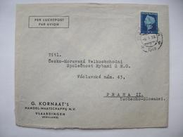 Netherlands Cover 1948 G. Kornaat's Handel-Maatschappij VLAARDINGEN To Prague Czechoslovakia, Wilhelmina 20 C. - Brieven En Documenten