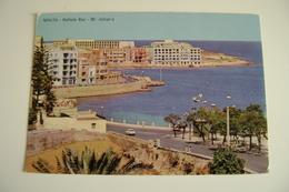 MALTA    BALLUTA  BAY  POSTCARD USED - Malta