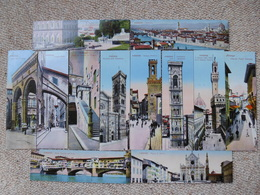 12 Florence (Firenze) Italy Bookmark Postcards, Images Of Various City Landmarks - Firenze (Florence)