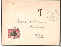 Lettre En Service Local T.Tx. N° 24 De ROUX Du 5/1/1920 - COB 90€ - Portomarken