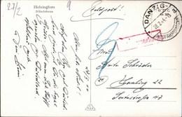! S/w Ansichtskarte Helsingfors, 1944 Feldpost 2. WK, Danzig Neufahrwasser, Nachgebühr, Hamburg, Lazarettschiff - Dantzig
