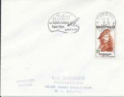 SEINE 75 -  PARIS VIII  - FLAMME N° 2205 - 1967 - LE SALON DES ARTISTES FRANCAIS -  TIMBRE N° 1135 -  -  TIMBRE = FLAMME - Postmark Collection (Covers)