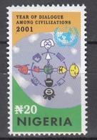 NIGERIA 2001 DIALOGUE Civilizations Set MNH - Emissioni Congiunte